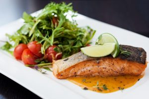 Blue Ridge GA Restaurants - smoked trout with vegetables